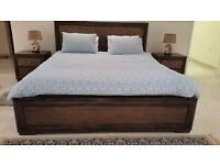 Super-Kingsize bed with top of the range matress and 2 side cabinets