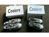 Ladies size 4 Coolers pumps and baseball boots as new