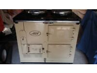 Cream 2 oven AGA