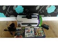 Kinect boxed with games and adapter