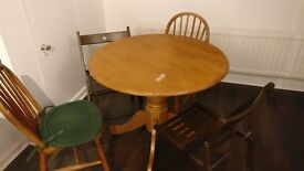 Julian Bowen Dining Room Table and 4 chairs