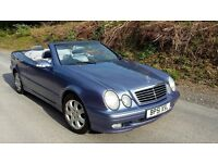 Mercedes CLK 230K Convertible, just 77,000 miles, exceptional condition, manual 6 speed.