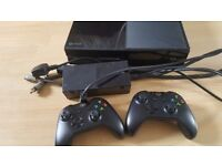 Xbox one console with two controls