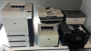 Imprimantes usagées Laser - HP LaserJet, Brother, Xerox, Lexmark - Multifonction Wifi - Couleur, monochrome - Commercial