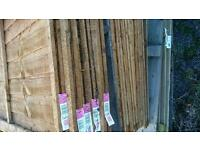 4 foot larch lap fence panels 8 available