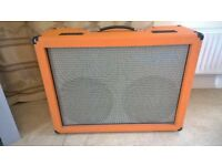 Guitar 2x12 Cabinet beautiful orange with Fane Hiwatt speakers