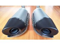 YAMAHA R1 OEM 2004 EXHAUST END CANS