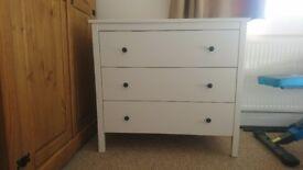 White chest of three drawers: KOPPANG, IKEA