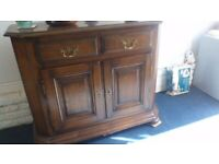 A gorgeous dark wood solid sideboard