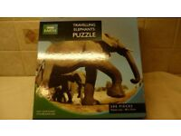 1000 Piece puzzle - BBC Travelling with Elephants frm the Meet your Planet Series