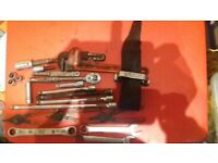 SNAP ON, MAC TOOLS, FACOM, BRITOOL AND VARIOUS OTHERS. JOB LOT NEW AND OLD