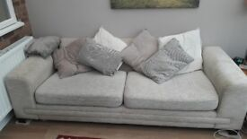 HUGE SOFA FOR SALE INCLUDING SCATTER CUSHIONS.