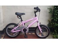 "Ridgeback Honey Girls Bike 14"" (ages 3-6), only a year old, in very good condition"