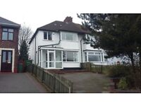 THREE BED SEMI-DETACHED HOUSE:CONSERVATORY :TWO RECEPTION ROOMS:OFF STREET PARKING: GARDEN:£775 PCM