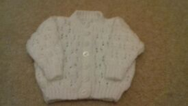 Handmade knitted Cardigan for 0-3 months