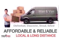 COURIER / MAN WITH A VAN HIRE CHELTENHAM GLOUCESTER TEWKESBURY STROUD EVESHAM SWINDON OXFORD BRISTOL