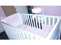 white cot bed for sale