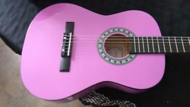 3/4 size Classical Acoustic Guitar – Pink