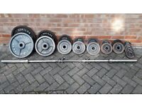 BODY POWER OLYMPIC 145KG WEIGHTS SET WITH 7FT OLYMPIC BAR