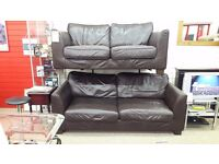 3 + 2 Dark Brown Leather Suite