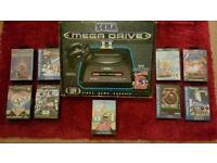SEGA MEGA DRIVE II BOXED AND SUPERB GAMES