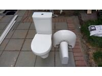 Ideal standard sink and toilet