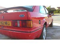 1989 FORD ESCORT XR3i RED - DEPOSIT TAKEN -FSH 96k, superb history, Lovely car all round, lots spent