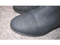 Ladies ECCO shoes Black Leather Size 36