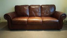 Leather Sofa Suite 3+2 Brown