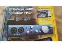Presonus audiobox iTwo sound card.