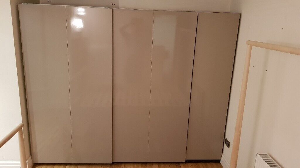timeless design 9c72b 36239 Ikea PAX sliding doors (200x201cm) + hinged door (50x201cm) | in Islington,  London | Gumtree