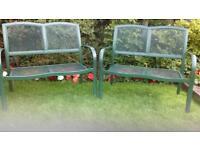 2 garden benches.