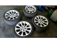 "17"" Genuine BMW F10 Style Alloy Wheels & tyres 225/45/17 sport se"