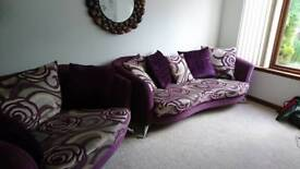 Suite - Four seater sofa, two seater love chair and armchair