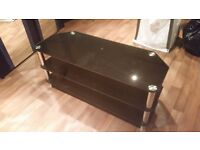 Black Glass TV Stand **Fits up to 50 inch tv**