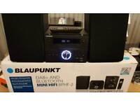 Brand new Blaupunkt BPHF-2 DAB FM Radio Mini HiFi CD Player Bluetooth Black