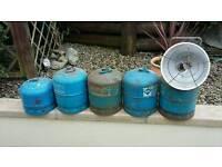 Camping gas bottles