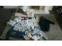 0-3 boys clothes bundle including changing mat, blankets