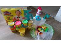 Play doh burger builder, ice cream factory and accessories