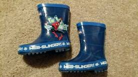 Size 4 Spider Man Wellies