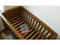 Mamas Papas Dark Oak Ocean Furniture Set - Cot Bed, Wardrobe & Changer Unit withDraws