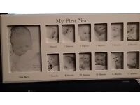 MY FIRST YEAR PHOTO FRAME - NEW