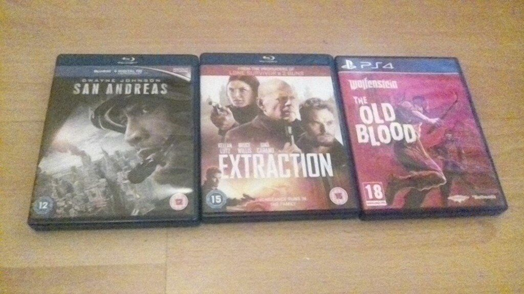 2 dvds and 1 ps4 game need gone meet