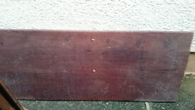 reclaimed mahogany slab and various offcuts