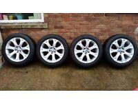 4 GENUINE RONAL OEM BMW 19 Alloy Wheels Winter Tyres E71 E72 X6 X5 E70 211 Style
