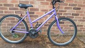 "Ladies raleigh 18"" frame mountain bike."