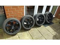 "Audi s3 ronal 17"" alloys wheels 5x100 vw seat skoda"