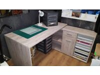 Modern desk and office chair