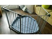BabyDen playpen, room divider, fireplace safeguard, safety gate
