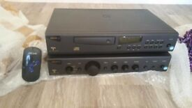 Complete Arcam amp cd separates system with speakers and stands